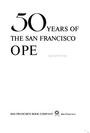 50 Years of the San Francisco Opera