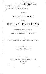 Theory of the Functions of the Human Passions