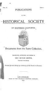 Documents from the Sutro Collection