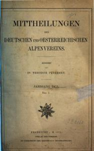 Mitteilungen des Deutschen und   sterreichischen Alpenvereins PDF