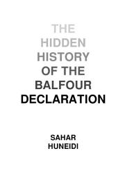 The Hidden History Of The Balfour Declaration Book PDF