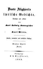 Dante Alighieri's lyrische gedichte: Teile 1-2