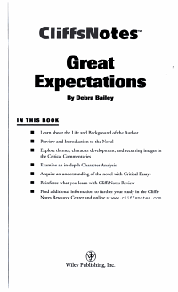 CliffsNotes on Dickens  Great Expectations PDF