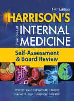 Harrison s Principles of Internal Medicine  Self Assessment and Board Review PDF