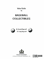 Value Guide to Baseball Collectibles