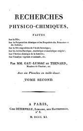 Recherches physico-chimiques: Volume2