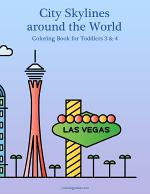 City Skylines around the World Coloring Book for Toddlers 3 & 4