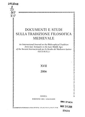 Documenti e studi sulla tradizione filosofica medievale
