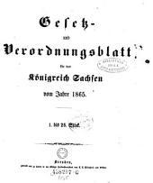 Gesetzsammlung für das Königreich Sachsen