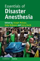 Essentials of Disaster Anesthesia PDF