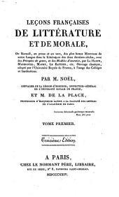 Leçons français de littérature et de morale: Volume1