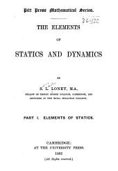 The Elements of Statics and Dynamics: Elements of statics