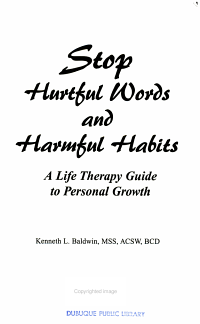 Stop Hurtful Words and Harmful Habits