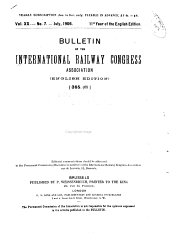 Bulletin of the International Railway Congress Association: Volume 20, Part 2