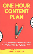 The One Hour Content Plan PDF