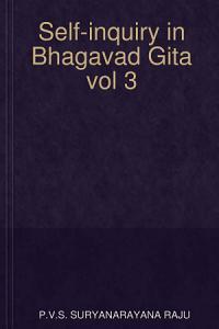 Self-inquiry in Bhagavad Gita vol 3 Book