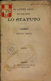 In laudem legis quae vulgo dicitur lo statuto
