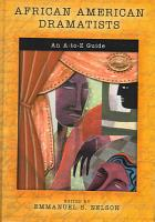 African American Dramatists PDF