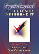 Psychological Testing and Assessment   Value Pack W MySearchLab  Book