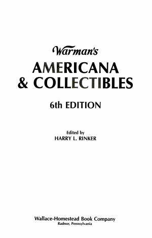 Warman s Americana and Collectibles PDF