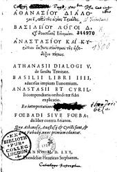 Athanasiou Dialogoi e, peri tes hagias triados