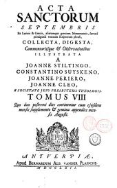 Acta sanctorum: Acta sanctorum septembris, Volume 47