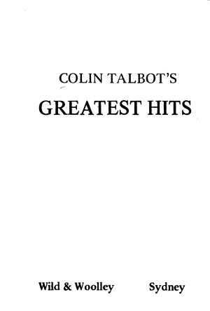 Colin Talbot's Greatest Hits