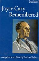 Joyce Cary Remembered PDF