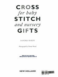 Cross Stitch Gifts For Baby And Nursery Book PDF