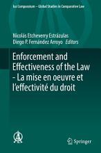 Enforcement and Effectiveness of the Law   La mise en oeuvre et l   effectivit   du droit PDF