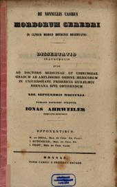 De nonnullis casibus morborum cerebri in clinico medico Bonnensi observatis