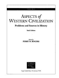 Aspects of Western Civilization Book