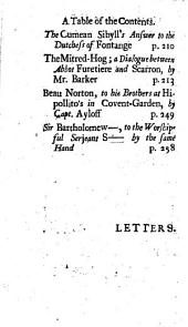 Letters from the dead to the living, by T. Brown, capt. Ayloff, H. Barker, &c