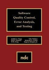 Software Quality Control  Error Analysis  and Testing PDF