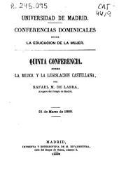 La mujer y la legislación castellana