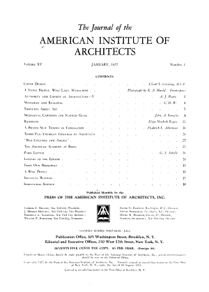 Journal of the American Institute of Architects PDF
