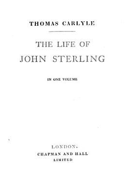 The life of John Sterling PDF
