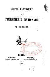 Notice historique sur l'Imprimerie nationale