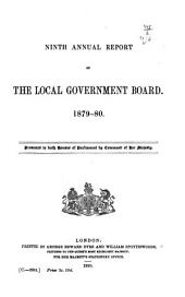Annual Report of the Local Government Board: Volume 9
