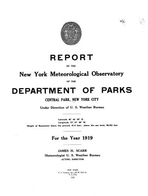 Report of the New York Meteorological Observatory PDF