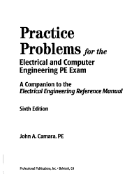 Practice Problems For The Electrical And Computer Engineering Pe Exam Book PDF