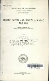 Miners' safety and health almanac for 1919-