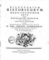 Directorivm historicorvm medii potissimvm aevi