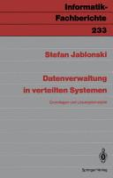 Datenverwaltung in verteilten Systemen PDF