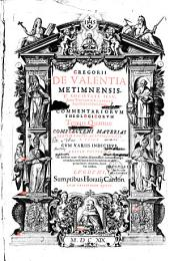 Gregorii de Valentia,... Commentariorum Theologicorum Tomi IV