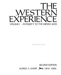 The Western Experience Antiquity To The Middle Ages Book PDF