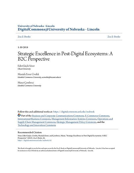 Strategic Excellence In Post Digital Ecosystems A B2c Perspective