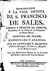 Introduccion a la Vida devota de S. Francisco de Sales ...
