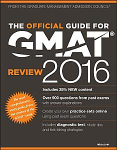 The Official Guide for GMAT Review 2016 with Online Question Bank and Exclusive Video Book