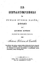 As metamorphoses ... poema ... trad. em verso solto portuguez por Antonio Feliciano de Castilho